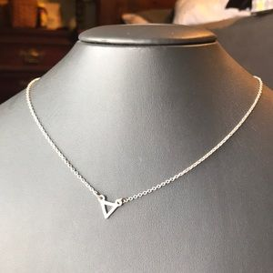 Jewelry - NWOT antique silver triangle necklace